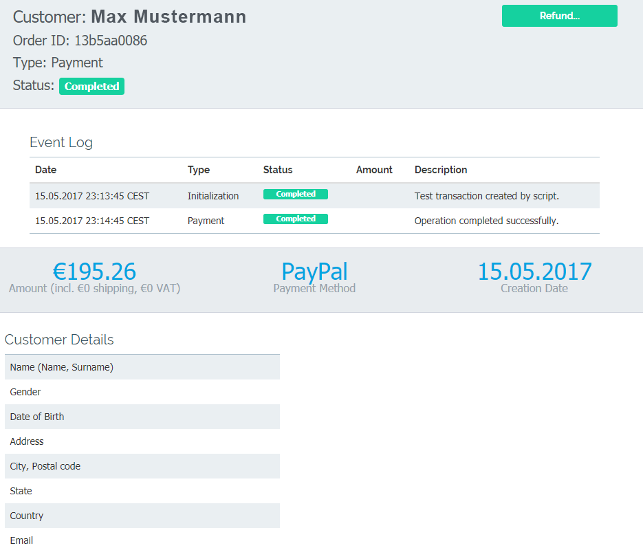 easy-online-payment - Dashboard - Customer-details